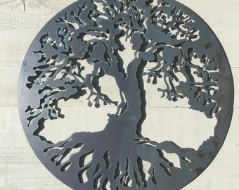 Tree of life Art, metal tree of life, wall decor, rustic wall art, metal wall art, industrial wall decor, fixer upper decor, family tree