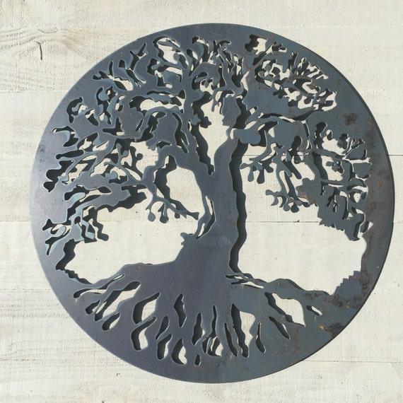 Tree of life Art metal tree of life wall decor rustic wall | Etsy