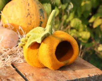 Pumpkin decor Felted pumpkin Felt pumpkin