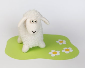 Felted sheep Soft toy Toy sheep Kids gift Handmade