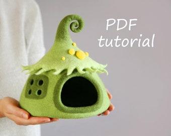 Fairy house tutorial / Felted tutorial / PDF