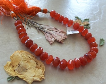 micro faceted orange super sparkle AAAA rondell beads size 3.5mm approx 14 inches hiogh quality so gorgeous natural carnelian