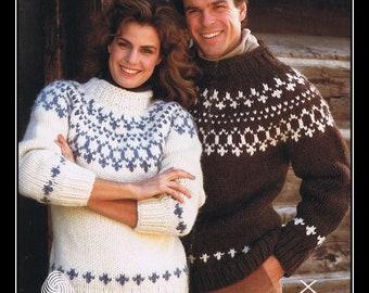 pdf knitting pattern cowichan style white buffalo,true north knitting,cardigan vintage White Buffalo Mitten #6541 canadian jacket