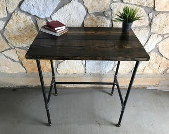 Standing Wood And Pipe Desk