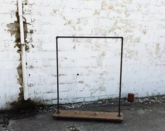 "Industrial Iron Pipe ""Original"" Clothes Rack"