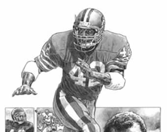d388b456f36 Ronnie Lott Lithograph - Limited Edition Artwork By Michael Mellett - San  Francisco 49ers Lithograph Collection