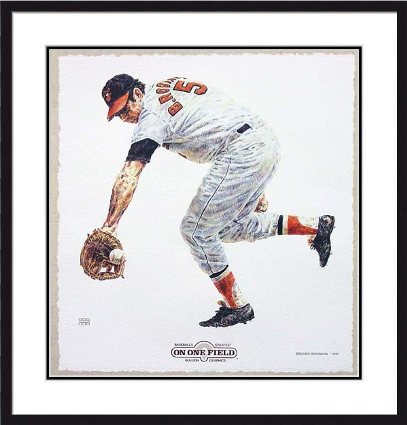 Baltimore Orioles On One Field Brooks Robinson Lithograph Limited Edition Artwork By Michael Mellett