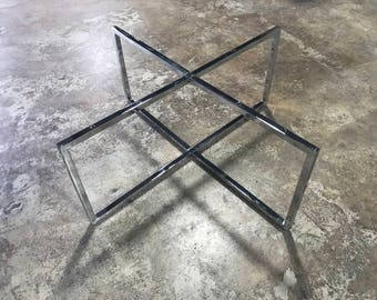 Coffee table legs etsy modern chrome coffee table base diy legs for coffee table watchthetrailerfo