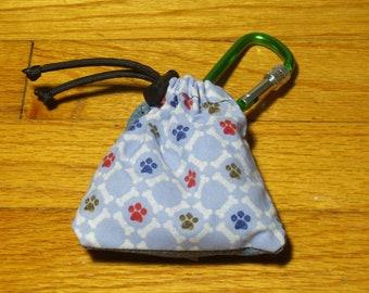 Poop Bag Dispenser Bones & Paws w/Biodegradable Bags