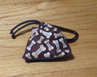 Poop Bag Dispenser Dog Biscuit Print w/Biodegradable Bags