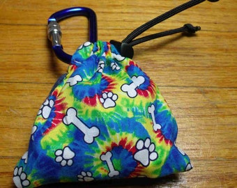 Poop Bag Dispenser Tie Dye w/Biodegradable Bags