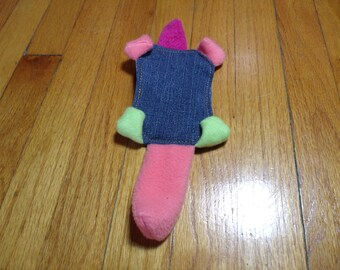 Muskrat Squeaker No Stuffing Dog Toy Recycled