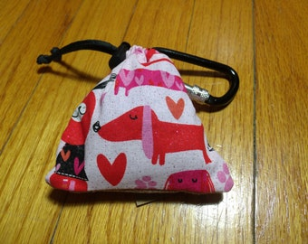 Poop Bag Dispenser Pink Dachshund w/Biodegradable Bags