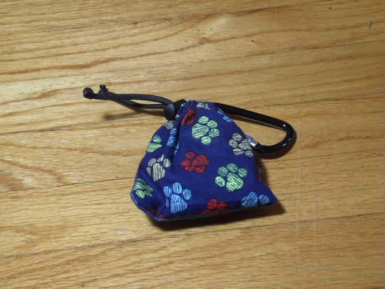 Poop Bag Dispenser Paw Print Pattern w/Biodegradable Bags No Balm