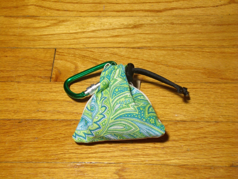 Poop Bag Dispenser Green w/Biodegradable Bags image 0