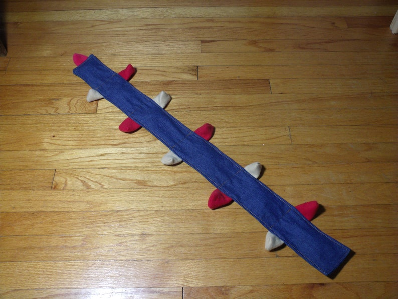 Centi 6 Squeaker No Stuffing Dog Toy  Recycled Denim image 0