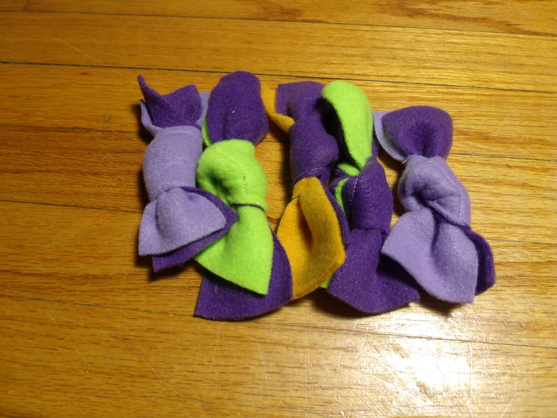 Knot Catnip Cat Toy Qty 5 Recycled Fleece image 0