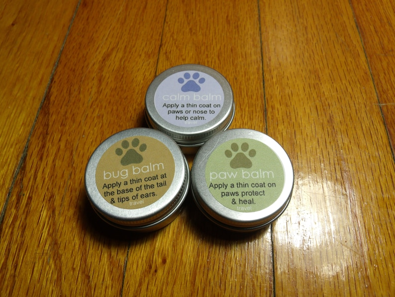 All Natural Dog Paw Balm Combo Travel Size Paw Balm Calm image 0
