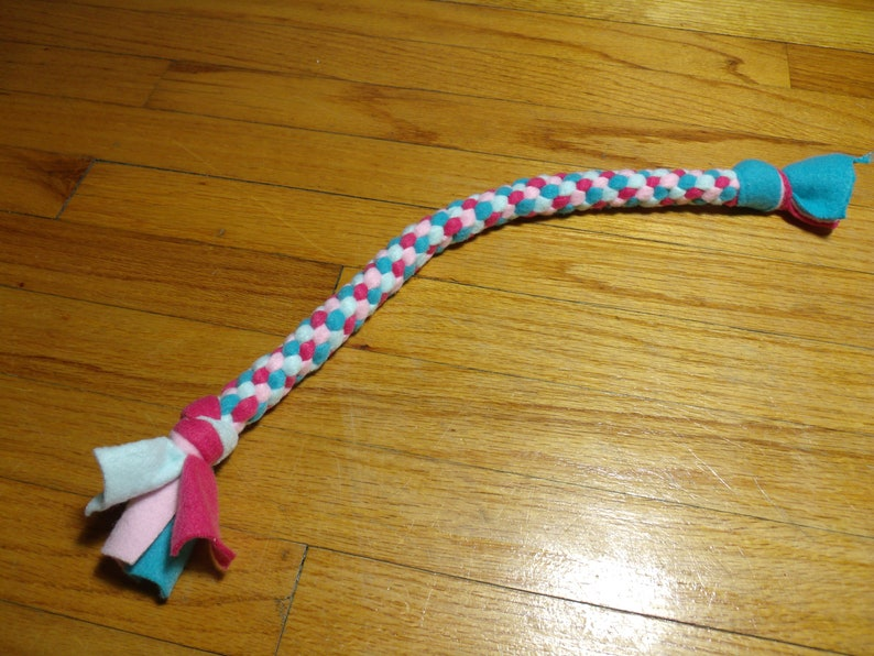 Knotted Fleece Tug Toy For Small/Medium Dog Circus image 0