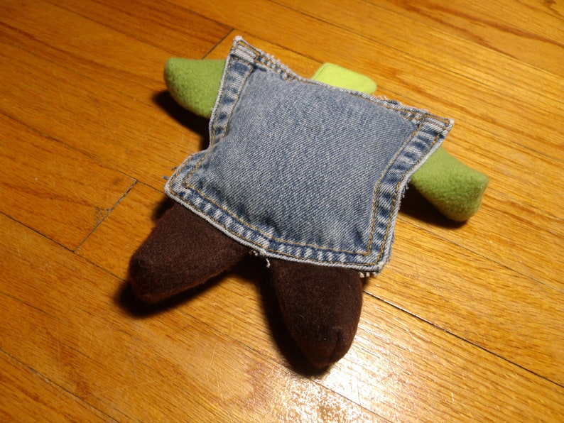 Squeaky Dog Toy Recycled Pocket Short Legs Frog image 0