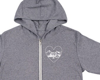love is... where you pitch your tent unisex zip hoodie