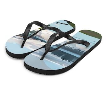 lakeside view flip-flops