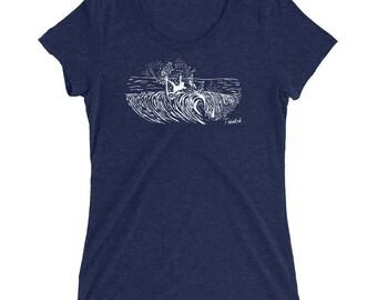 the ocean's waiting - ladies' short sleeve t-shirt