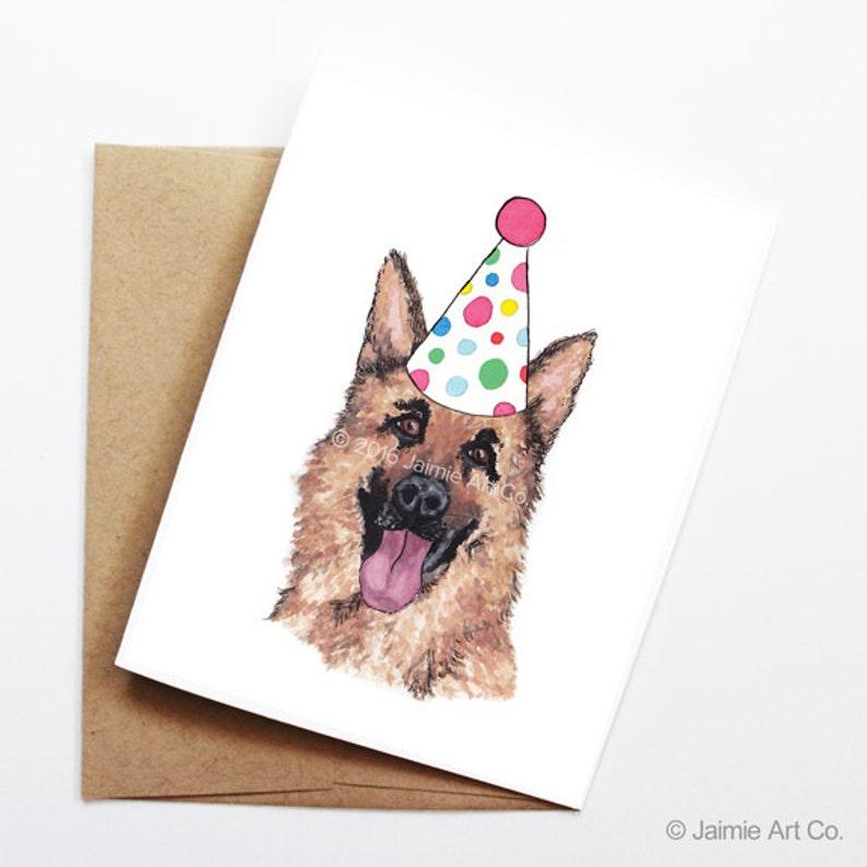 Kaart Duitse Herder Hond Verjaardagskaart Leuke Kaart Kaart Van De Hond Bday Verjaardagskaart Kinderen Birthday Verjaardagskaart Vriend