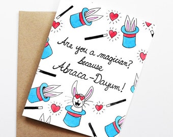 Funny Love Card - Abraca-Dayum!, Thinking of You Card, Blank Card, Just Because Card, Cute Greeting Card, Anniversary Card, Funny Valentine