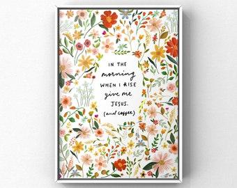 When I Rise Fine Art Print (coffee in white) 8x10