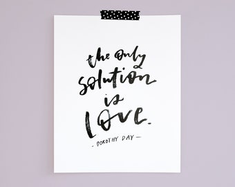 Only Solution 8x10 Print