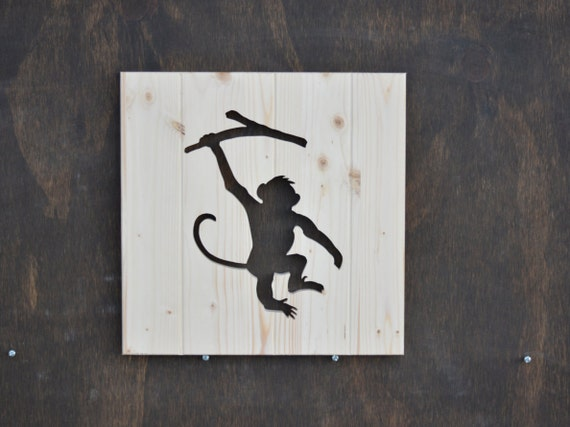 Monkey Wood Silhouette Safari Animal Cutout 13