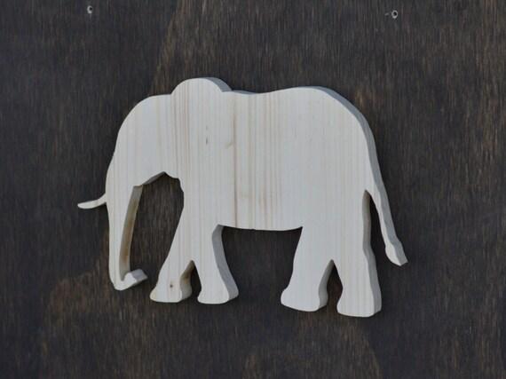 Elephant Safari Animal Wood Cutout