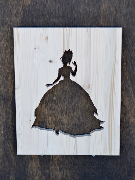 Tiana Wood Silhouette Disney The Princess And The Frog Cutout Etsy