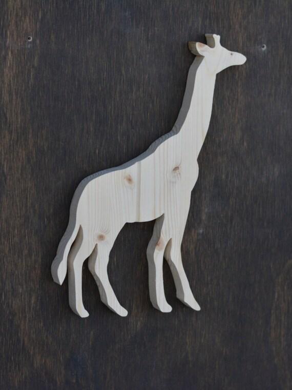 Giraffe Safari Animal Wood Cutout