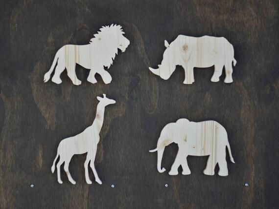 Wood Safari Animal Cutouts