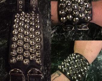 Cone studded punk bracelet
