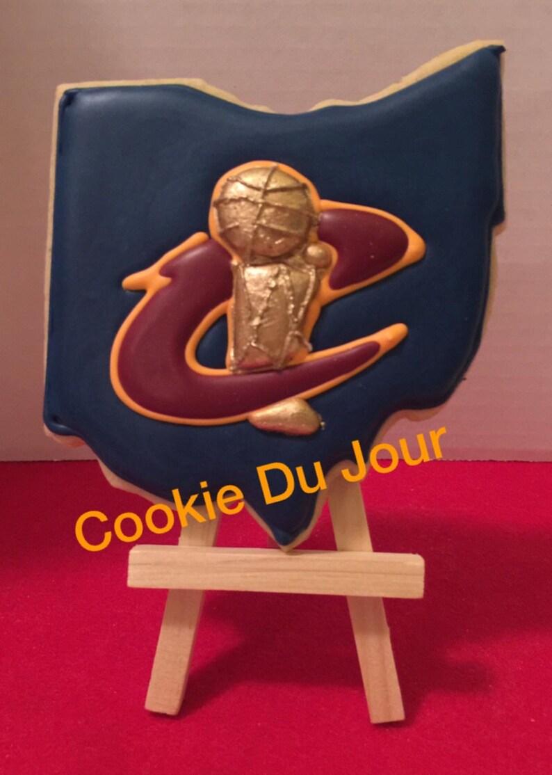 Custom Sugar Cookies Cleveland Cavaliers Championship Goumet Cookies FREE SHIPPING!