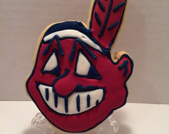 Chief Wahoo Cleveland Indians Cookies