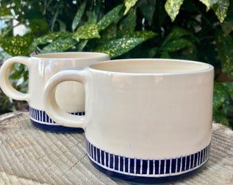 Ceramic Mug | Navy Blue Design
