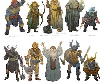 Dungeon People - sketch print