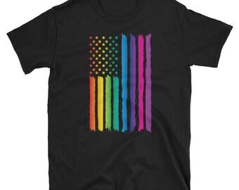 LGBT Gay Pride American Flag