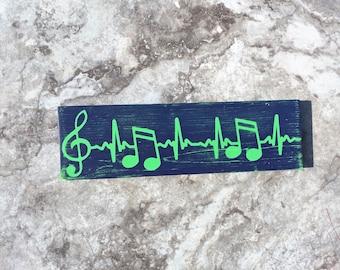 Music notes, EKG Sign