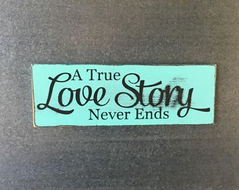 A True Love Story Never Ends-MAGNET