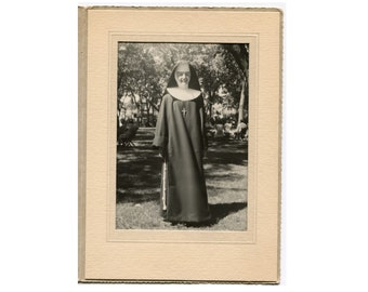1890s Nun Wearing Habit w// Large Cross c Antique Photo.. Photo Reprint  5x7