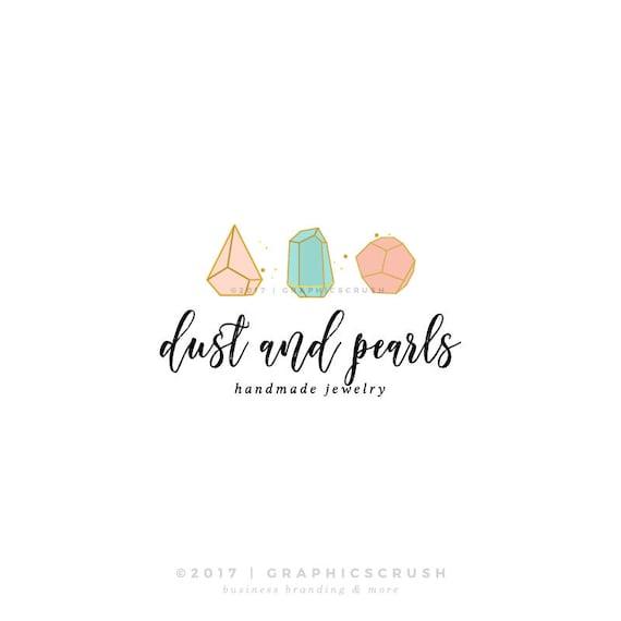 jewelry stones logo design jewellery logo design bracelet logo etsy