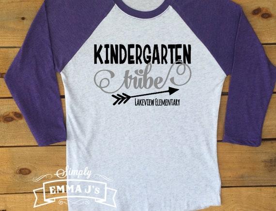 Kindergarten Tribe Teacher Team Shirt Kindergarten Team Etsy