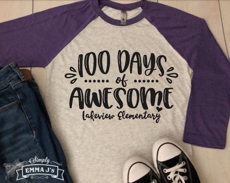 09309dadd55 100 days of school shirt teacher, days of awesome, 100 days of school,  teacher shirt,100th day of school, teacher, teacher gift, gift idea