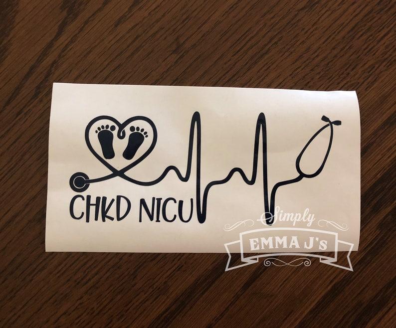 "HEART STEPHOSCOPE NURSE RN Window Sticker Decal 6/""X 5.5/"""