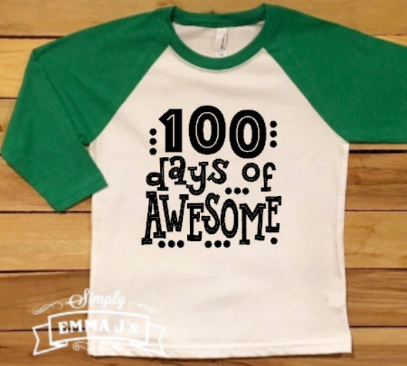 f9e536dc791 100 days of awesome, youth shirt, 100 Days smarter, 100 days of school,  100th day of school, gift idea